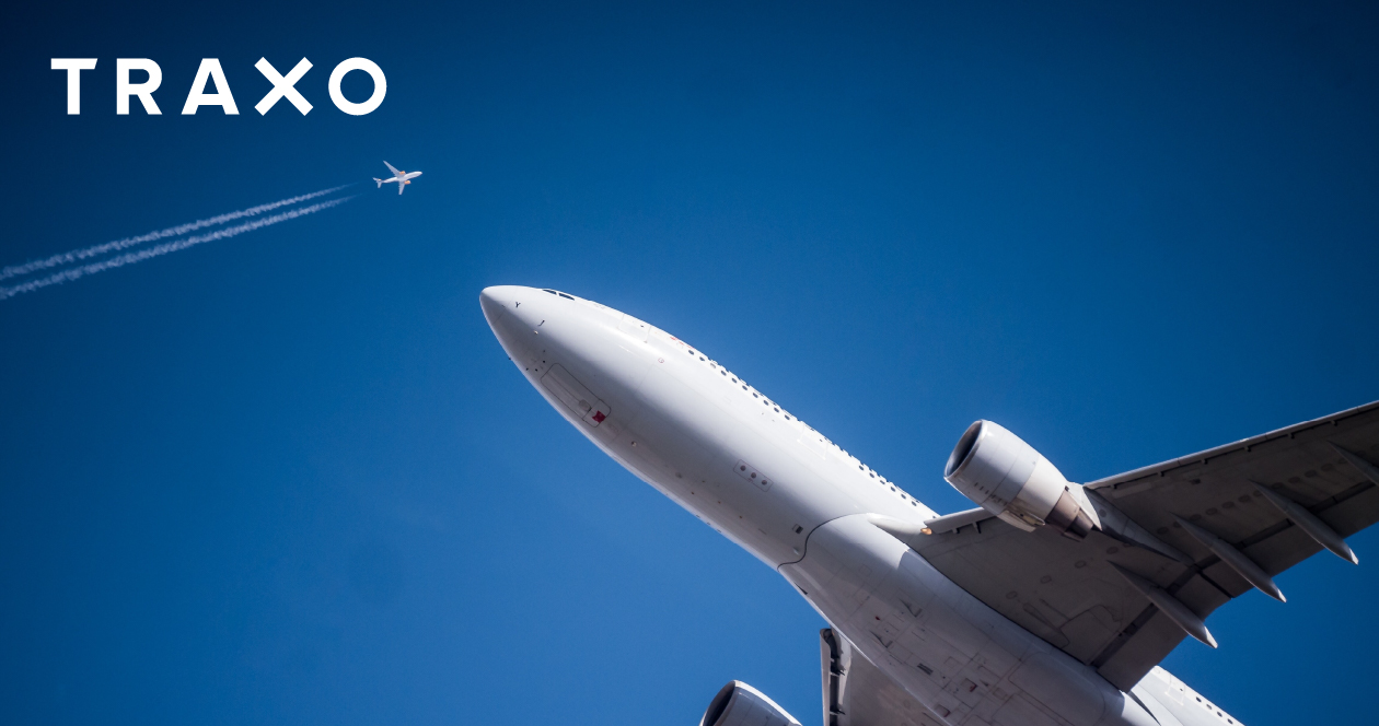 Airplanes against a blue sky